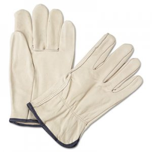 Anchor Brand ANR4000XL 4000 Series Leather Driver Gloves, White, X-Large, 12 Pairs