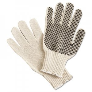 MCR Safety MPG9650LM PVC Dot String-Knit Gloves, Cotton/Polyester, Large