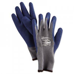 AnsellPro ANS801009PR PowerFlex Gloves, Blue/Gray, Size 9, 1 Pair