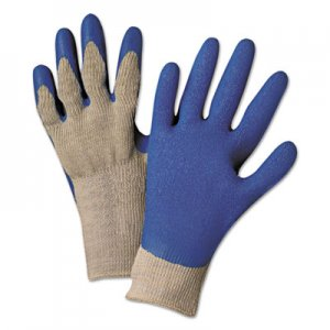 Anchor Brand ANR6030M Latex Coated Gloves 6030, Gray/Blue, Medium