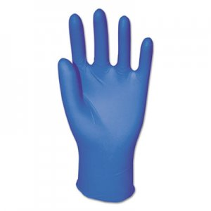 Boardwalk BWK395LBX Disposable General-Purpose Powder-Free Nitrile Gloves, L, Blue, 5 mil, 100/Box