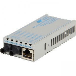 Omnitron Systems 1101D-1-01 miConverter 10/100 PoE/D ST Single-Mode 30km US AC & PoE Powered 1101D-1