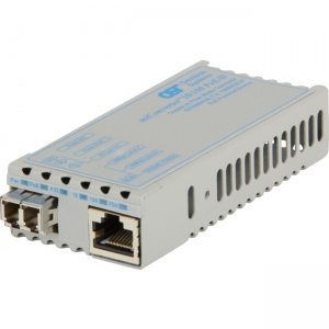 Omnitron Systems 1107D-1-01 miConverter 10/100 PoE/D LC Single-Mode 30km US AC & PoE Powered 1107D-1
