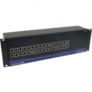 SmartAVI RK-DVS-TX16S Powered Rack/Chassis with DVI-D 2-Port CAT6 STP Transmitter with Local Loop