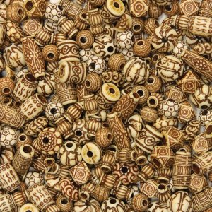 ChenilleKraft 3259 Mixed Bone Beads