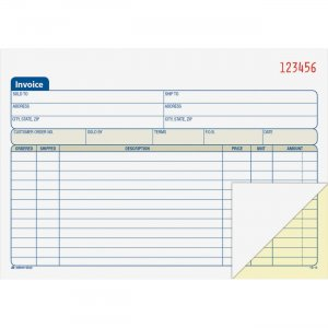 Adams DC5840 Carbonless Invoice Book ABFDC5840