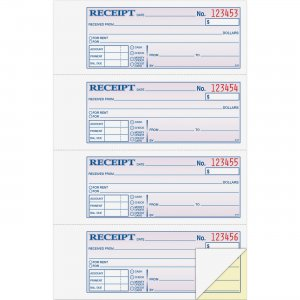 Adams DC1182 Money/Rent Receipt Book ABFDC1182