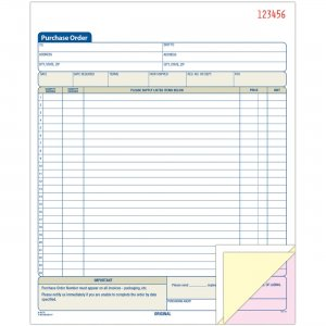 Adams TC8131 Purchase Order Book ABFTC8131