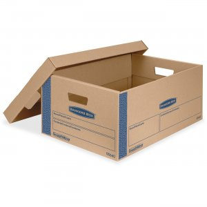 Bankers Box 0066001 Smoothmove Prime Lift-off Lid Large Moving Boxes FEL0066001