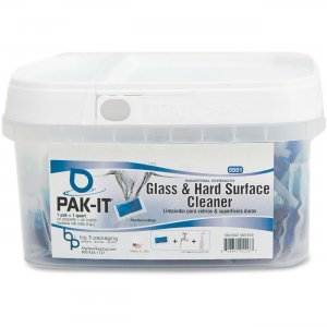Big 3 Packaging 55511008 PAK-IT Glass/Hard Surface Cleaner Packs BIG55511008