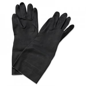 "Boardwalk BWK543XL Neoprene Flock-Lined Gloves, Long-Sleeved, 12"", X-Large, Black, Dozen"