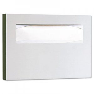 Bobrick BOB221 Stainless Steel Toilet Seat Cover Dispenser, 15 3/4 x 2 x 11, Satin Finish