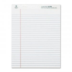 Business Source 63108 Legal-ruled Writing Pads BSN63108