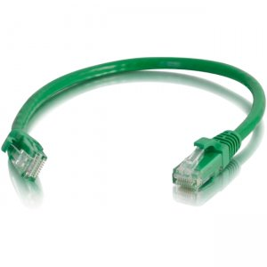 C2G 00934 6in Cat5e Snagless Unshielded (UTP) Network Patch Cable - Green
