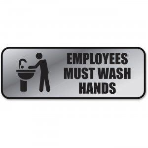COSCO 098205 Employee Wash Hands Sign COS098205
