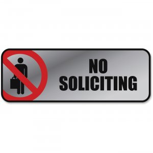 COSCO 098208 No Soliciting Image/Message Sign COS098208