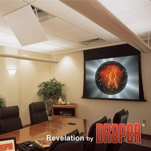 Draper 300027 Revelation Projector Ceiling-Recessed Mount with Environmental Airspace Housing Model A