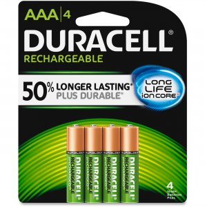 Duracell NLAAA4BCD Ion Core Rechargeable AAA Batteries