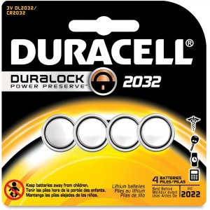 Duracell DL2032B4PK Lithium 3V Medical Battery