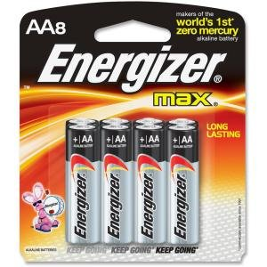 Energizer E91MP8CT Max Alkaline AA Batteries