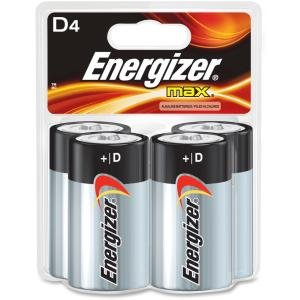 Energizer E95BP4CT Max Alkaline D Batteries