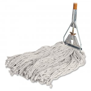 Genuine Joe 54201 Cotton Wet Mop with Handle GJO54201