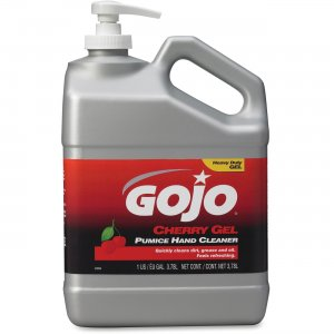GOJO 2358-02 Gallon Pump Cherry Gel Pumice Hand Cleaner GOJ235802