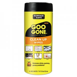 Goo Gone WMN2000 Tough Task Wipes, 8 x 7, Citrus Scent, White, 24/Canister, 4 Canister/Carton