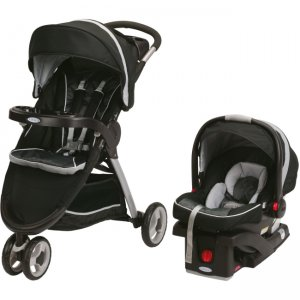 Graco 1934806 FastAction Fold Sport Click Connect Travel System, Gotham