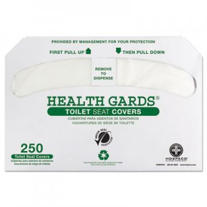 HOSPECO HOSGREEN1000 Health Gards Green Seal Recycled Toilet Seat Covers, White, 250/PK, 4 PK/CT