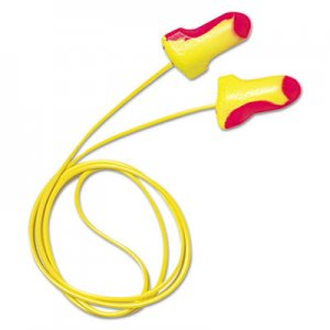 Howard Leight by Honeywell HOWLL30 LL-30 Laser Lite Single-Use Earplugs, Corded, 32NRR, Magenta/Yellow, 100 Pairs