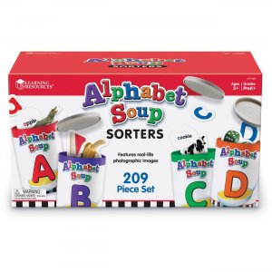 Learning Resources LER6801 Alphabet Soup Sorters