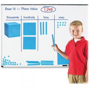 Learning Resources LER6366 Giant Magnetic Base Ten Set