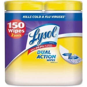 LYSOL 84922 Dual Action Cleaning Wipes RAC84922