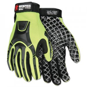 MCR Safety CRWMC500XXL Cut Pro MC500 Gloves, High Vis Lime/Black, 2X-Large
