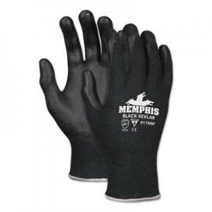 MCR Safety CRW9178NFL Kevlar Gloves 9178NF, Kevlar/Nitrile Foam, Black, Large