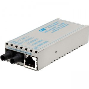 Omnitron Systems 1101-1-2 miConverter 10/100 ST Single-Mode 30km Univ. AC Powered 1101-1-x