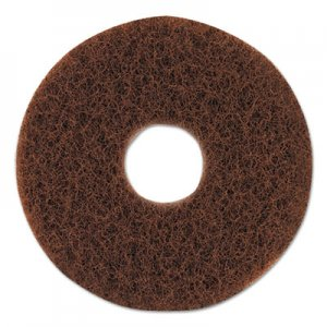 "Oreck Commercial ORK437049 Orbiter Strip Pad, 12"" dia, Brown"