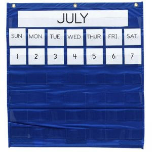 Pacon 20200 Monthly Calendar Pocket Chart