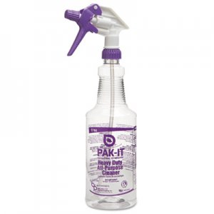 PAK-IT BIG574420004012 Empty Color-Coded Trigger-Spray Bottle, 32 oz,for Heavy-Duty All Purpose Cleaner
