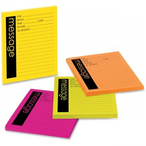 Post-it 7679-4 Neon Important Message Pad MMM76794