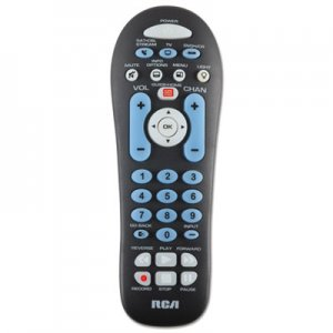 RCA VOXRCR313BR Big Button Three-Device Universal Remote, Black