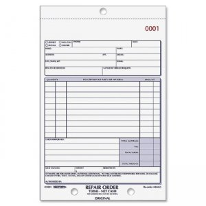 Rediform 4L455 3-pt Carbonless Repair Order Book RED4L455