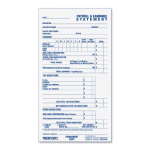 Rediform S6052CL Individual Time/Payroll Record Form REDS6052CL