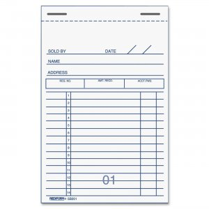Rediform 5B201 Sales Receipt Book RED5B201