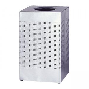 Rubbermaid Commercial SC14SSPL Designer Line Silhouette Open Top Receptacle RCPSC14SSPL