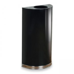 Rubbermaid Commercial SO1220PLBK SO1220PL Open Top Indoor Waste Receptacle RCPSO1220PLBK