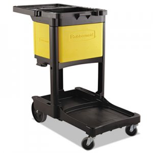Rubbermaid Commercial RCP6181YEL Locking Cabinet, For Cleaning Carts, Yellow