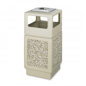 Safco 9473TN Canmeleon Aggregate Side Open Receptacle with Ash Urn SAF9473TN