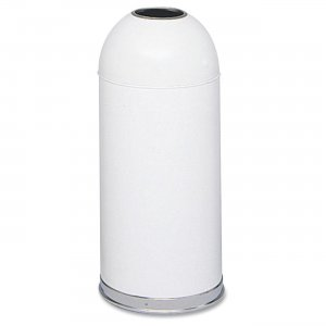 Safco 9639WH Open Top Dome Waste Receptacle SAF9639WH